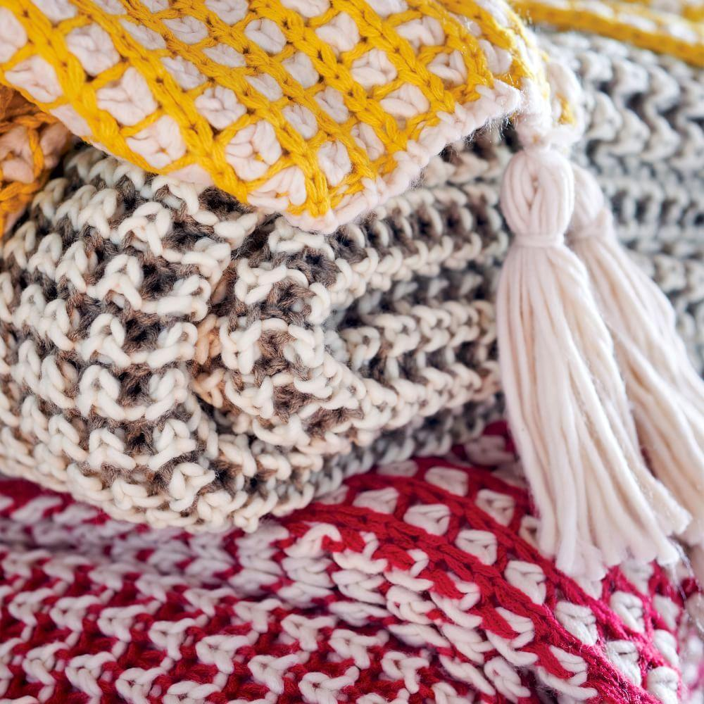 West elm collection new designs that define - Popcorn Knit Throw