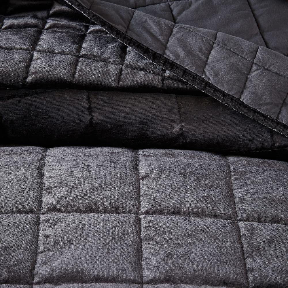 Washed Cotton Lustre Velvet Bedspread Pillowcases West