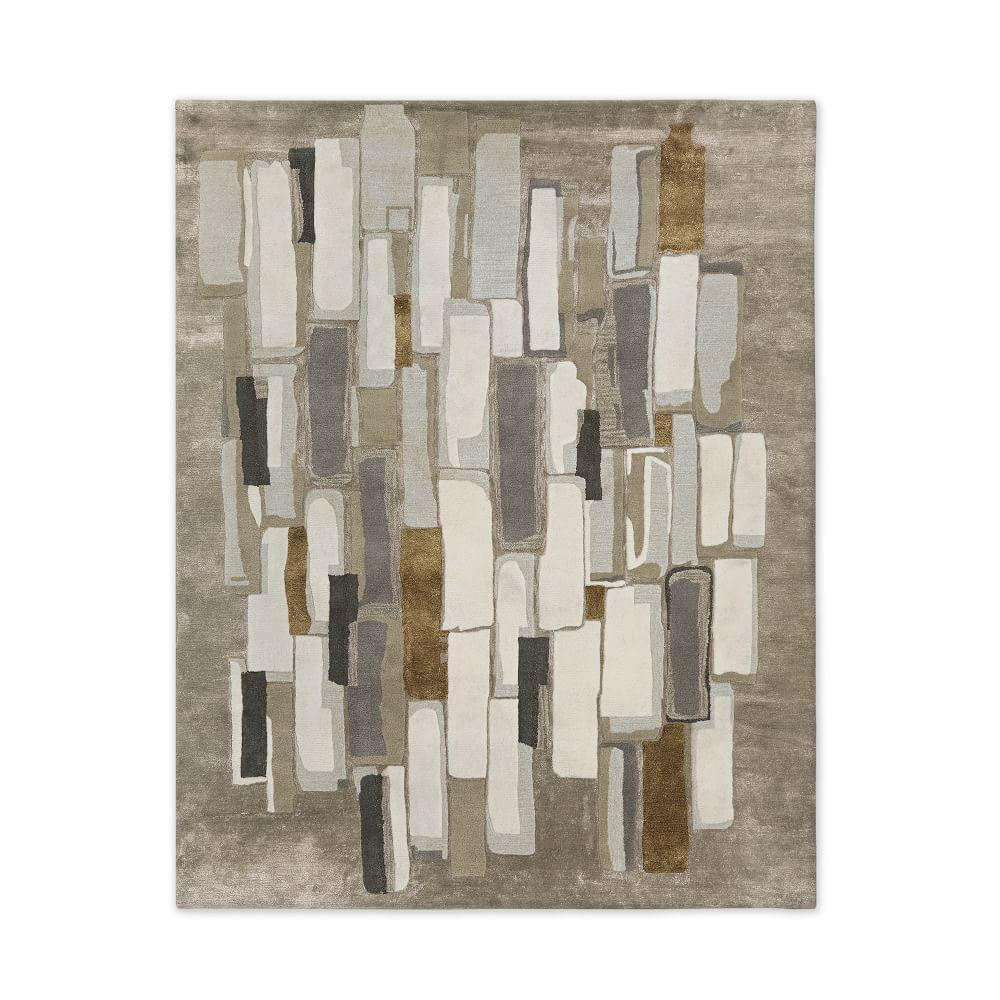West Elm Round Rug Amazing Area Rug Best Round Area Rugs: Alabaster Tile Wool Rug