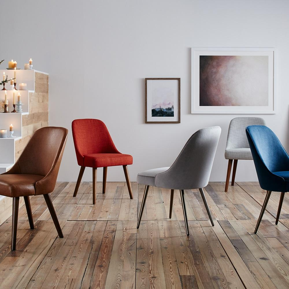 mid century dining chairs walnut legs west elm uk. Black Bedroom Furniture Sets. Home Design Ideas