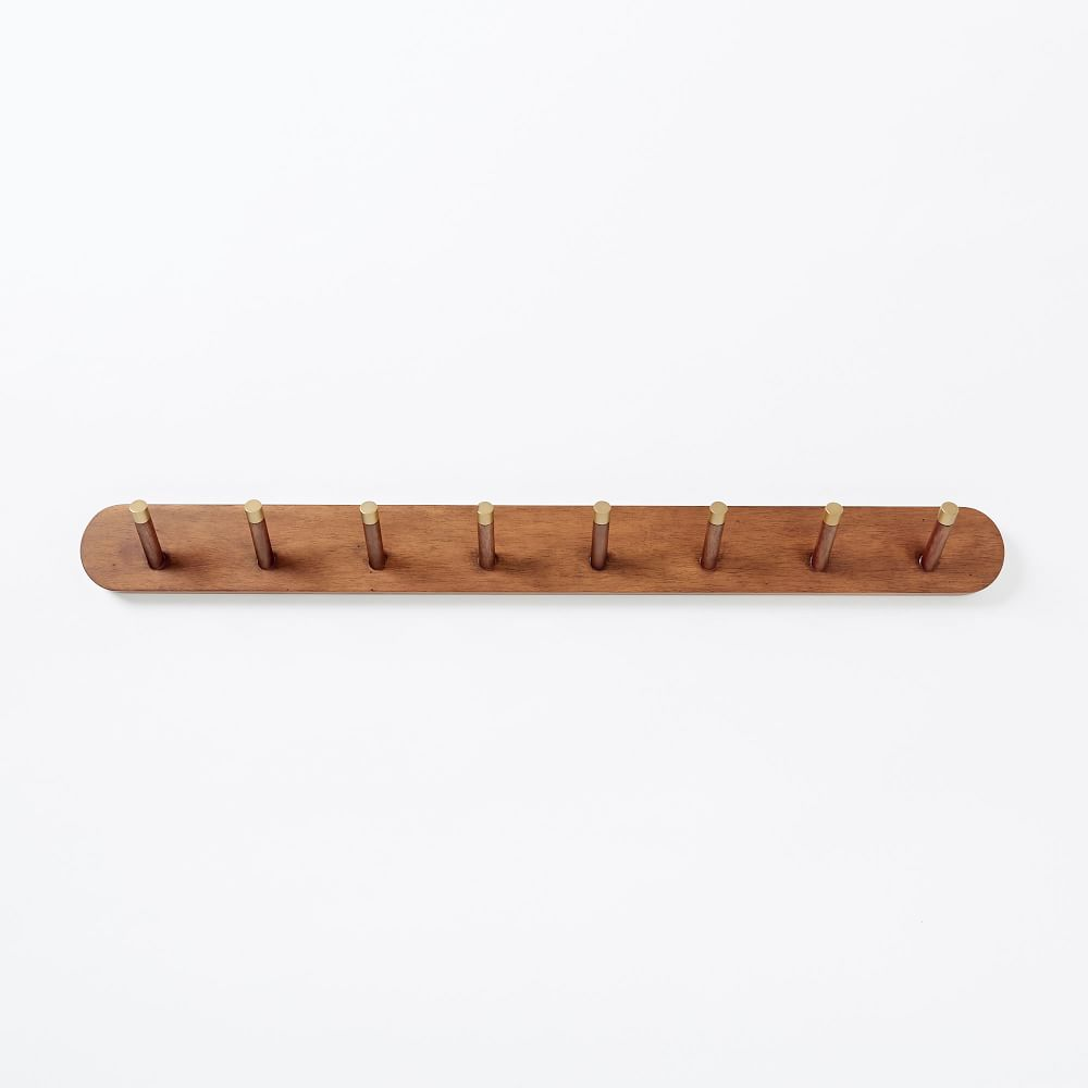 Mid-Century Wall-Mounted Coat Rack