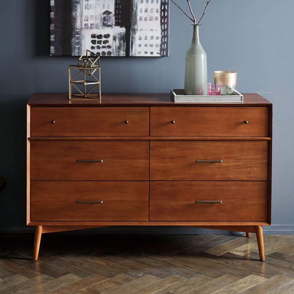 mid century 6 drawer chest acorn west elm uk. Black Bedroom Furniture Sets. Home Design Ideas