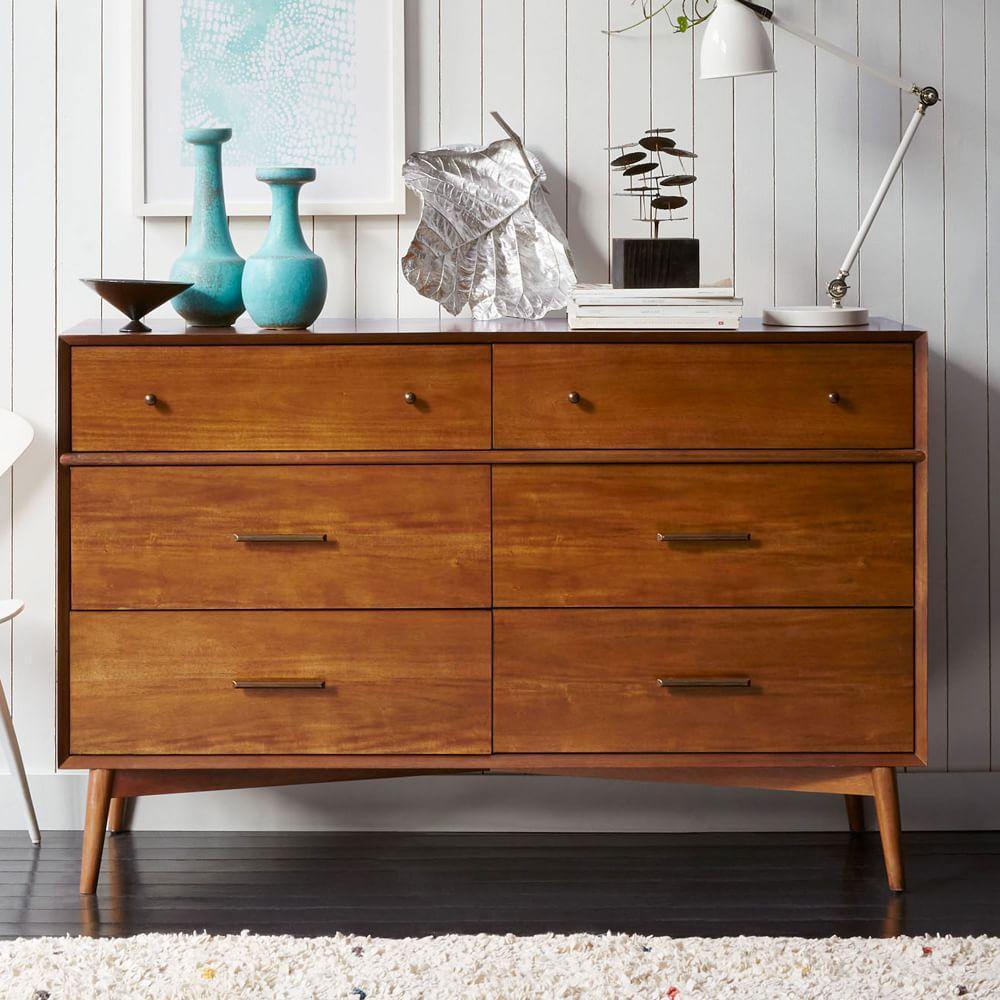 mid century 6 drawer chest acorn west elm uk. Black Bedroom Furniture Sets. Home Design Ideas