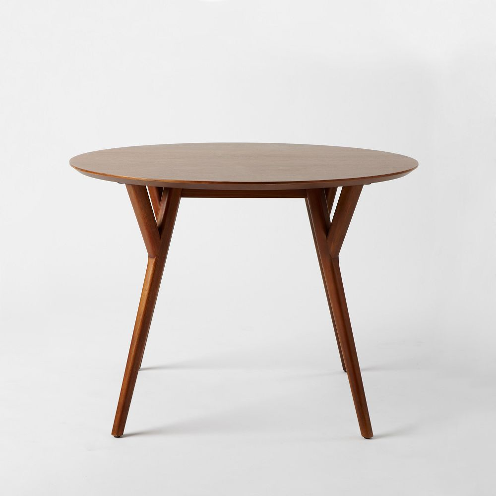 Mid century round dining table west elm uk - Round dining table small space model ...