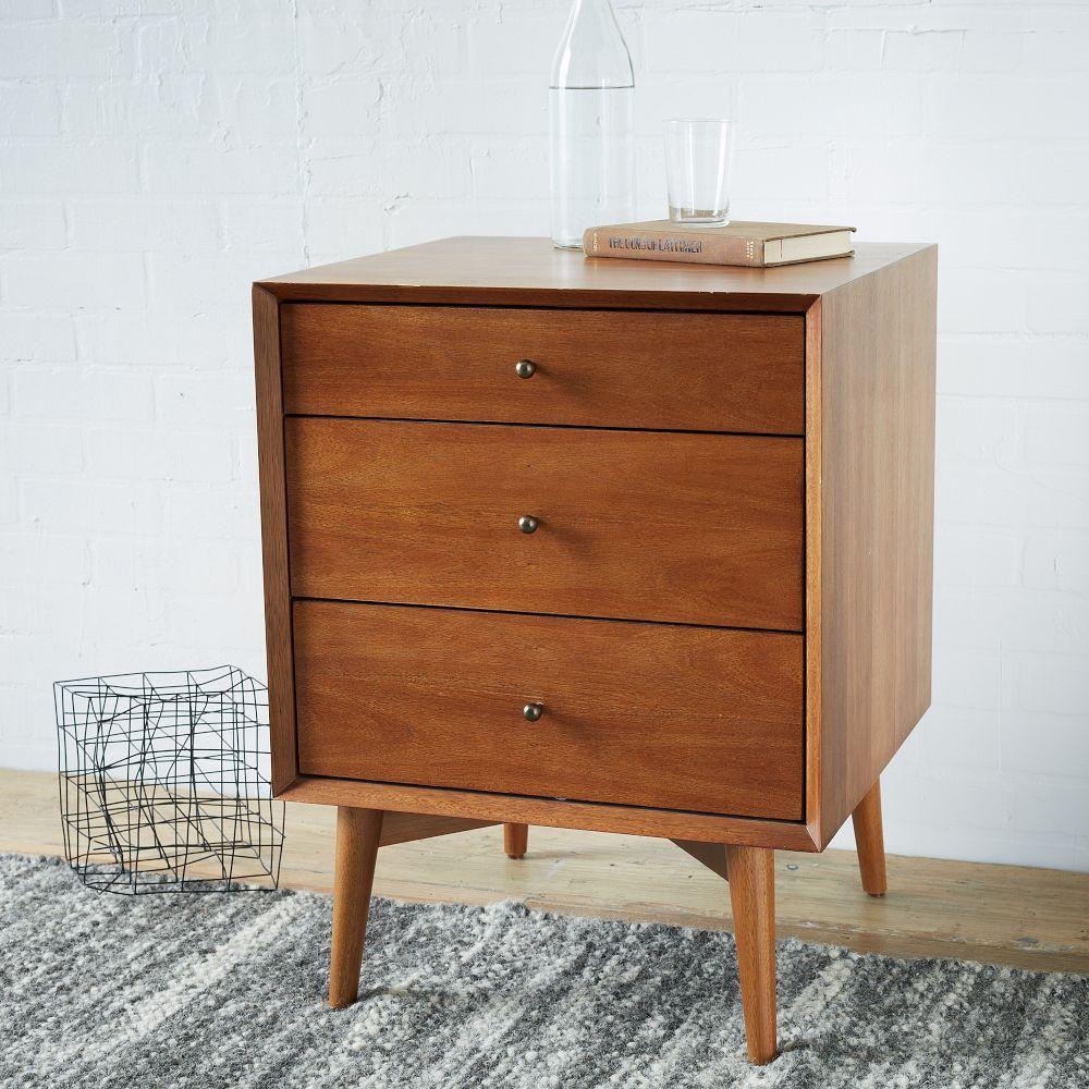 mid century 3 drawer side tables acorn west elm uk. Black Bedroom Furniture Sets. Home Design Ideas