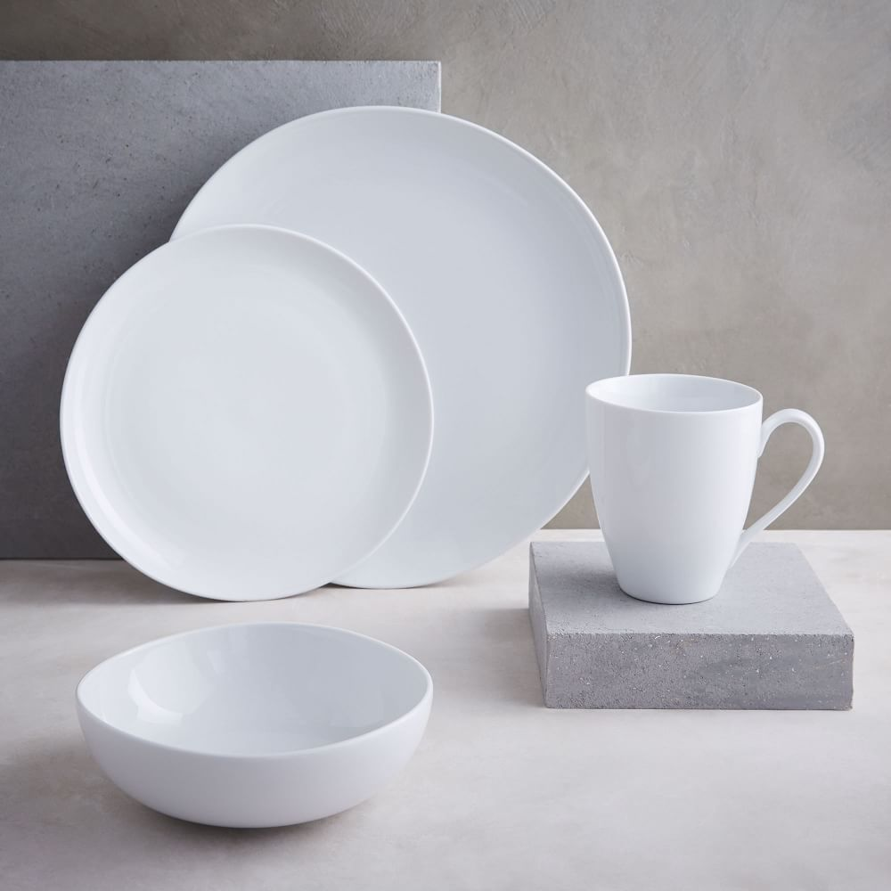 Organic Shaped Dinnerware Set West Elm Uk