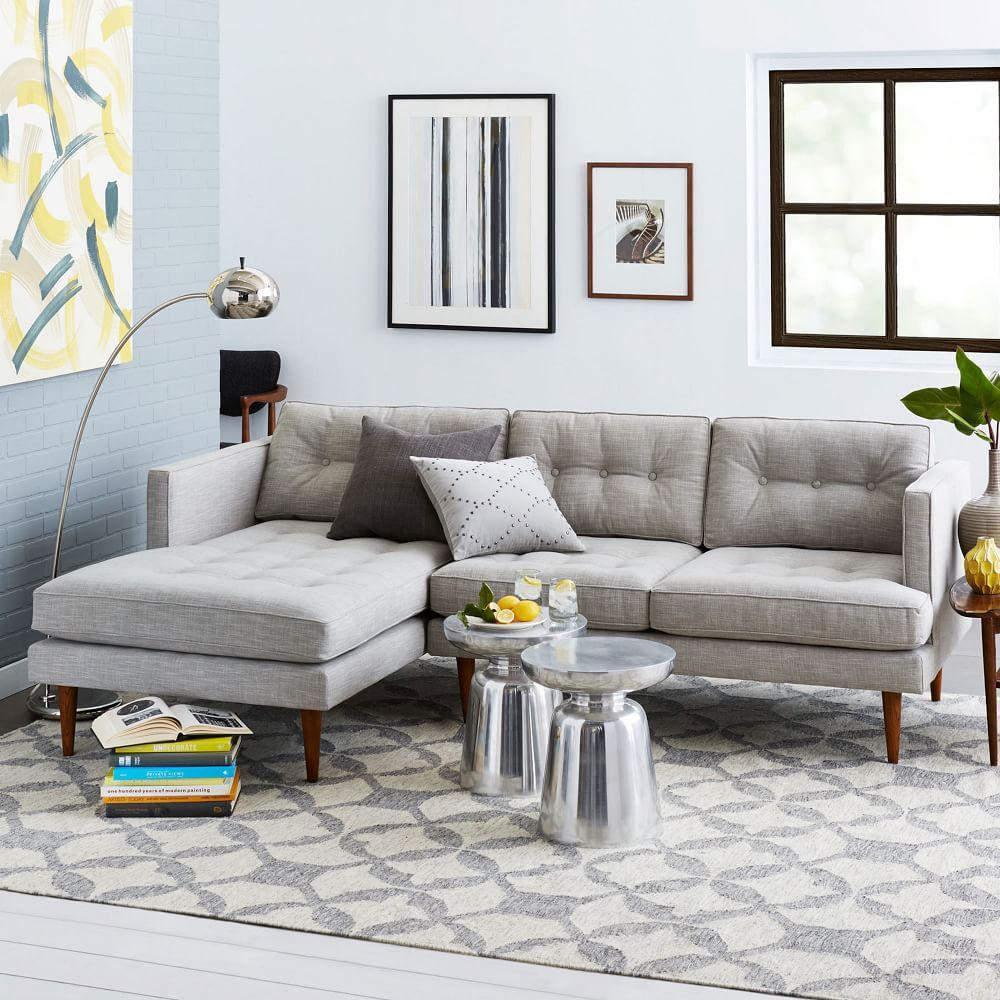 Peggy mid century chaise sectional west elm uk for West elm peggy sectional sofa