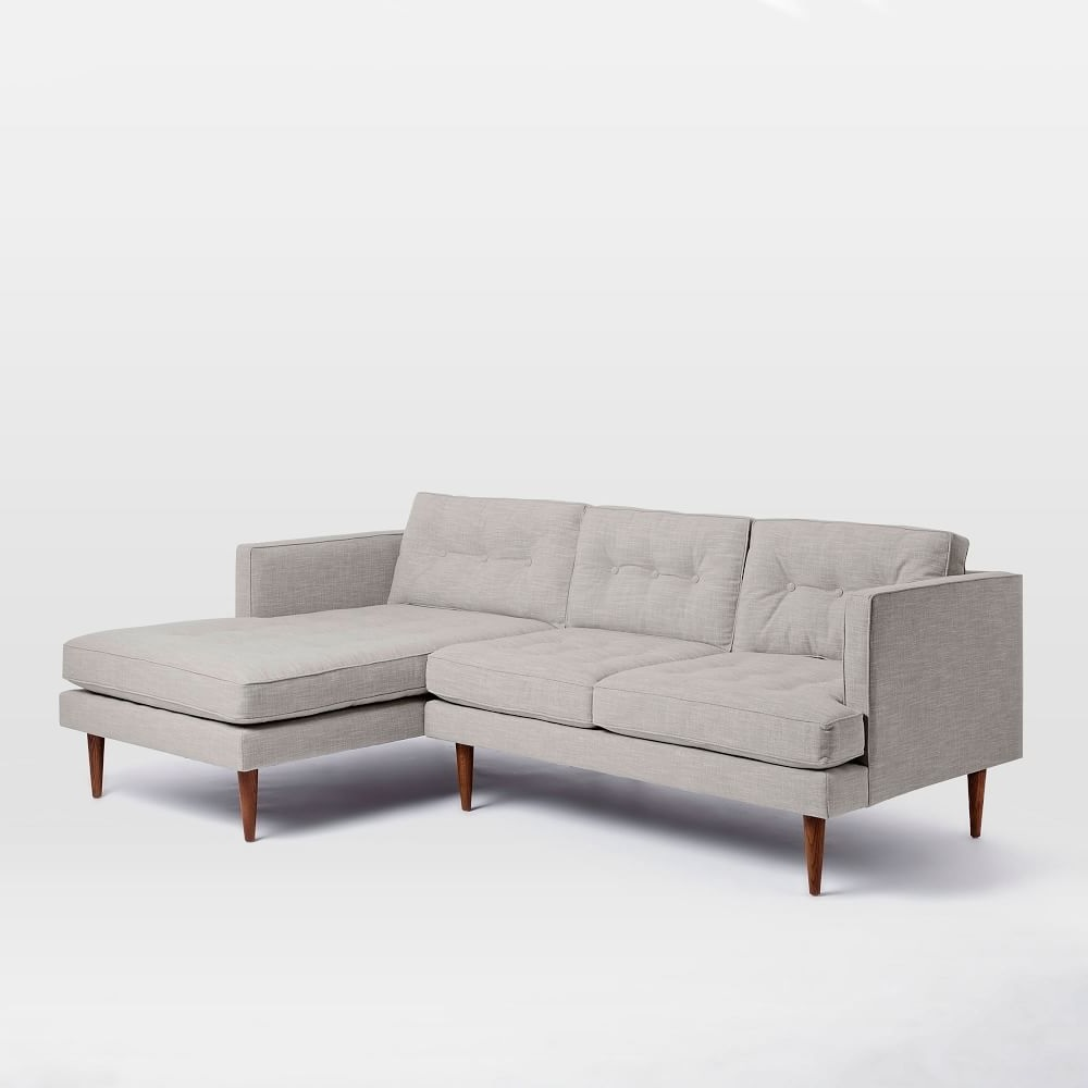 Peggy Mid Century Chaise Sectional West Elm Uk