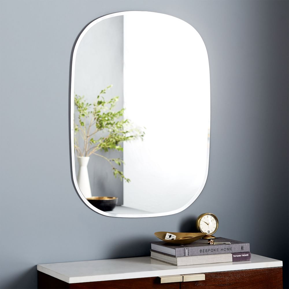 Frameless rectangle wall mirror west elm uk frameless rectangle wall mirror frameless rectangle wall mirror amipublicfo Choice Image