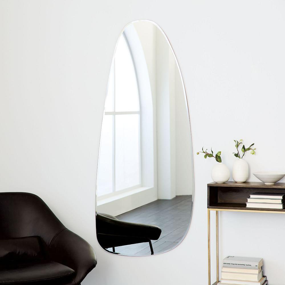 Frameless Asymmetrical Floor Mirror West Elm Uk