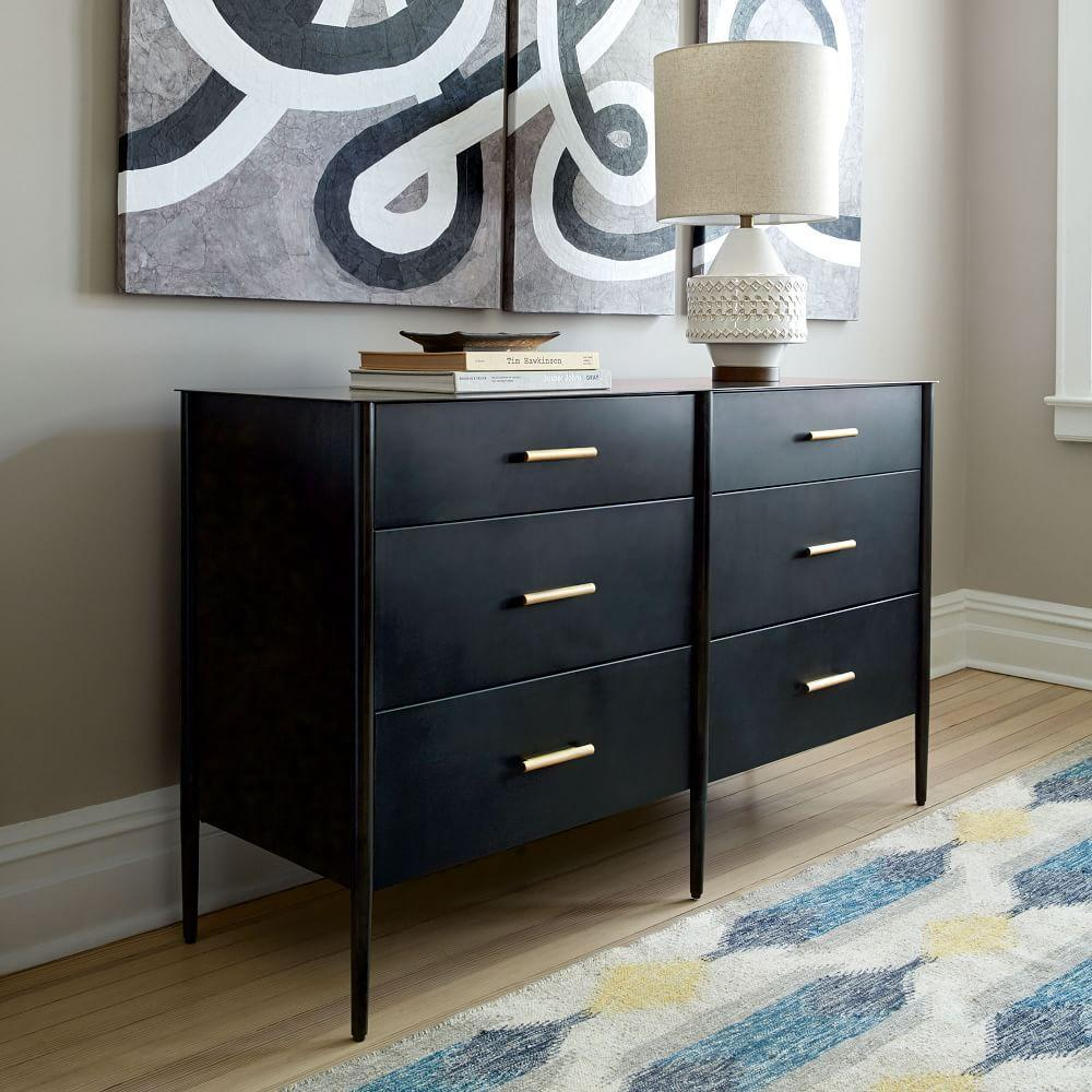 Metalwork 6-Drawer Chest - Hot-Rolled Steel Finish