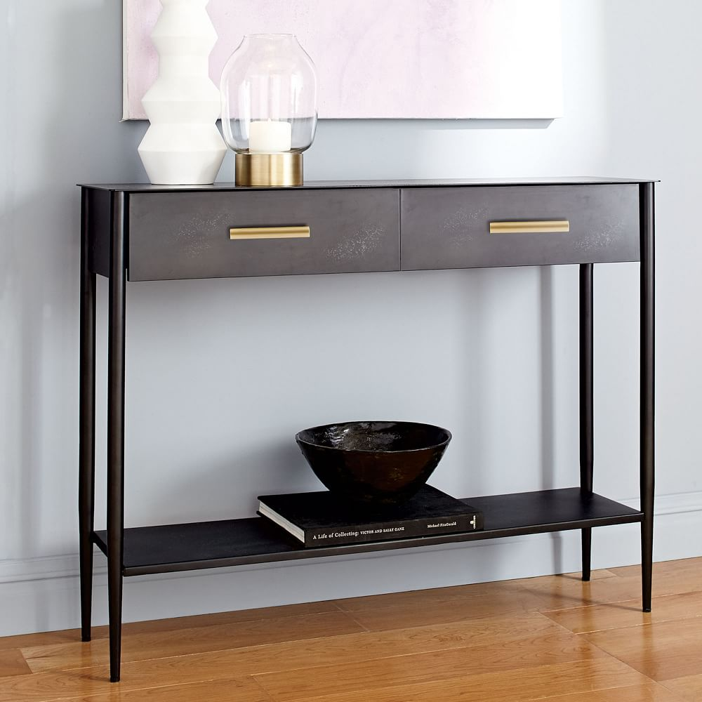Metalwork Console - Hot-Rolled Steel Finish