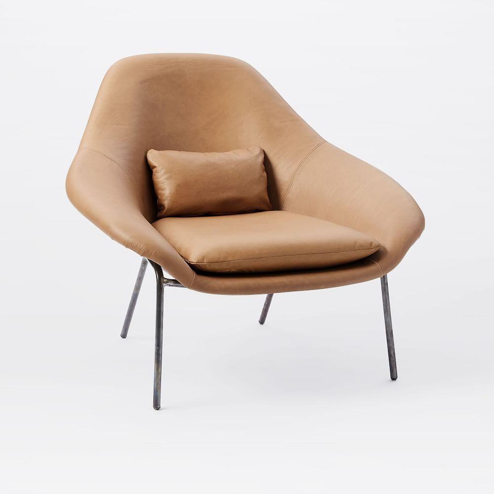 Leather slipper chair west elm - Rowan Leather Chair