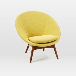 Armchairs footstools west elm uk for West elm yellow chair