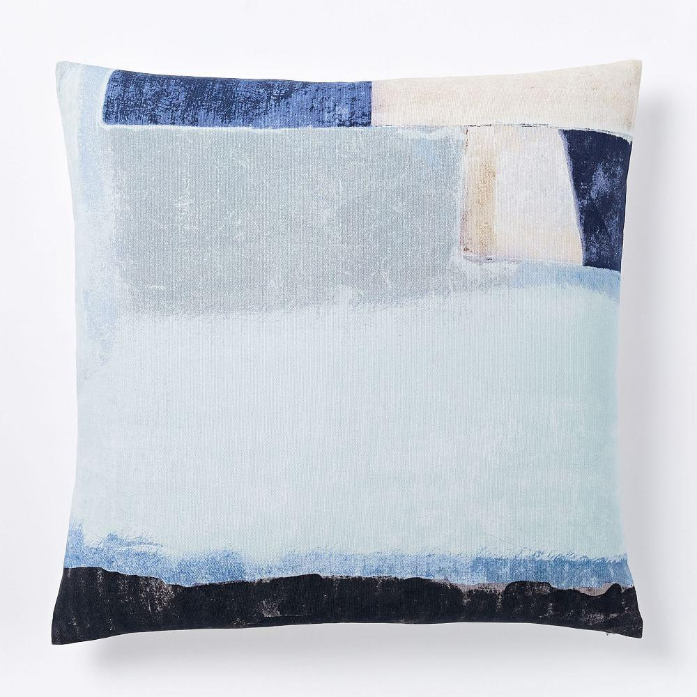Gallery Abstract Cushion Cover Cornflower Blue West Elm Uk