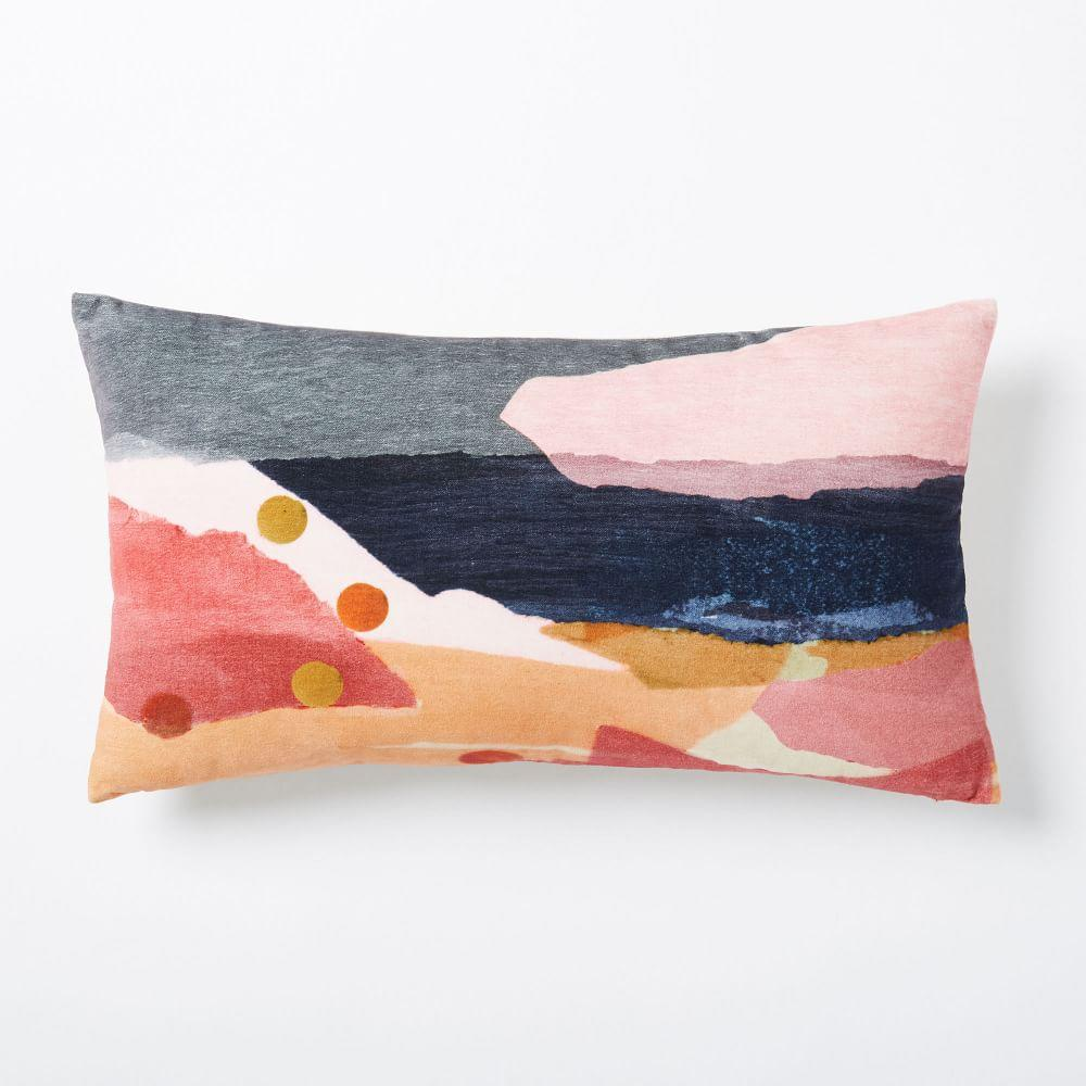 Velvet Desert Landscape Cushion Cover Peach Blush West
