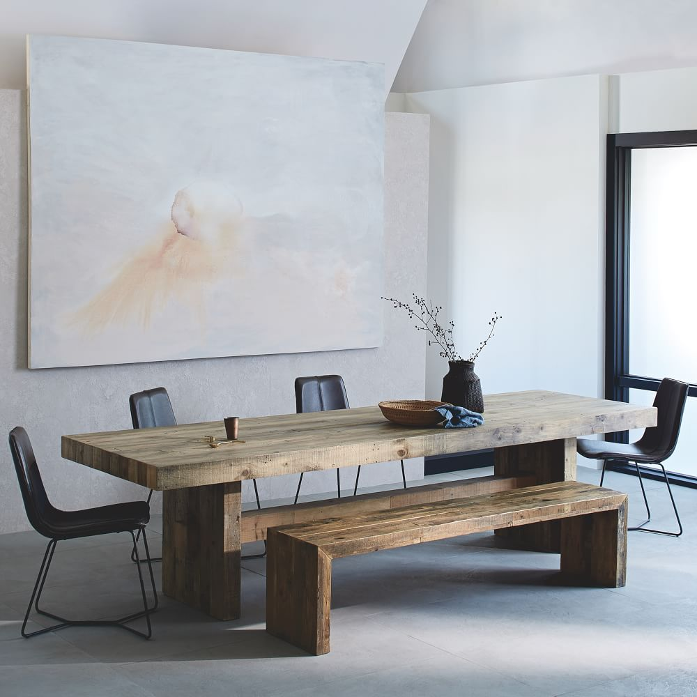 Emmerson reclaimed wood dining table west elm uk for West elm c table