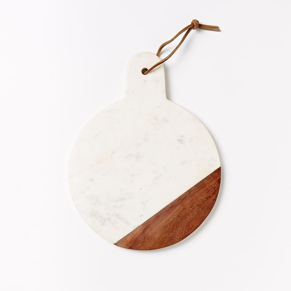 Marble + Wood Chopping Board - Paddle