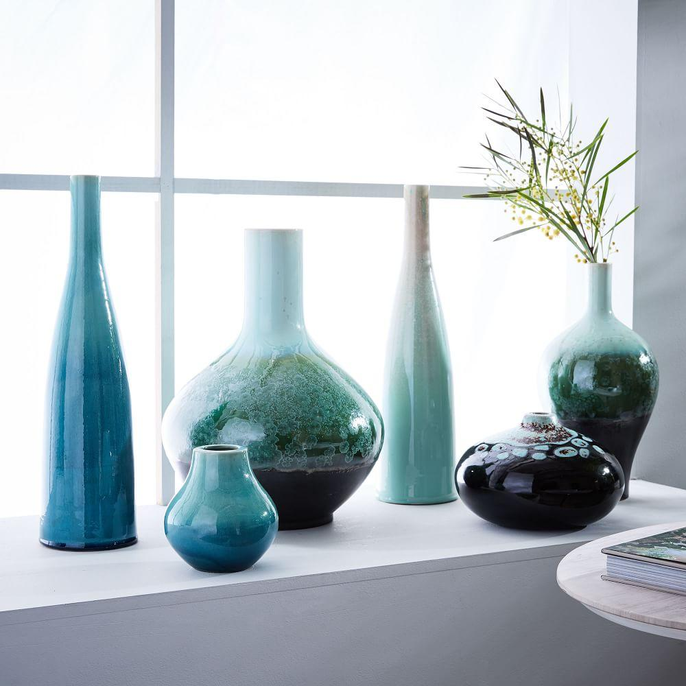 reactive glaze vases west elm uk. Black Bedroom Furniture Sets. Home Design Ideas