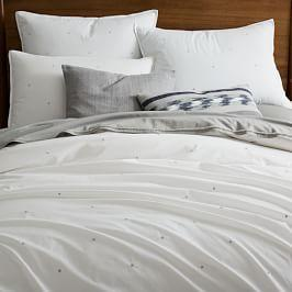 Organic Washed Cotton Duvet Cover + Pillowcases - Stone White