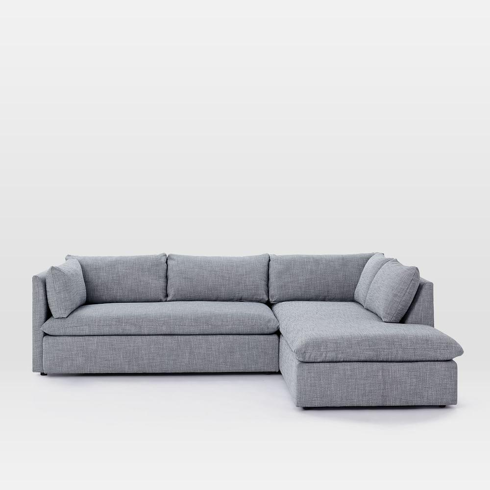 Shelter 2 Piece Terminal Chaise Sectional West Elm Uk