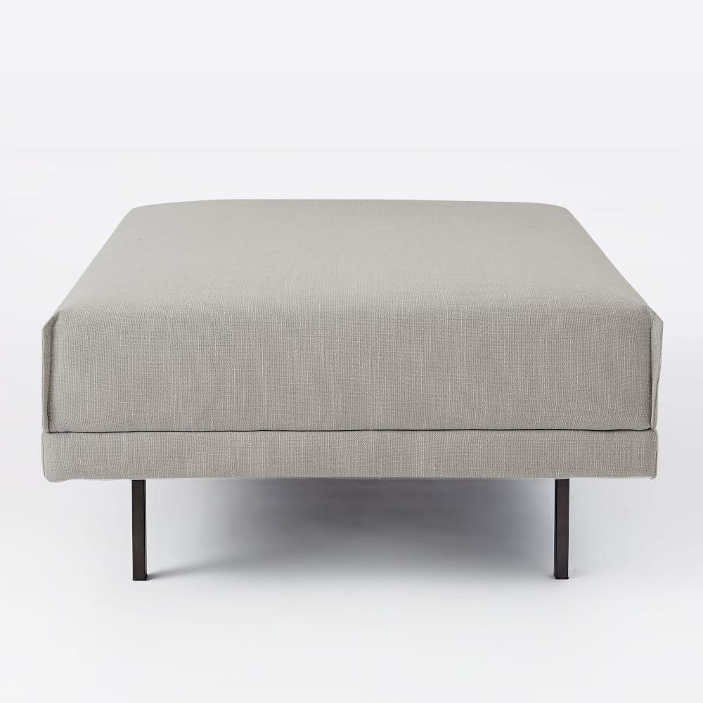 Halsey Footstool - Feather Grey (Mod Weave)