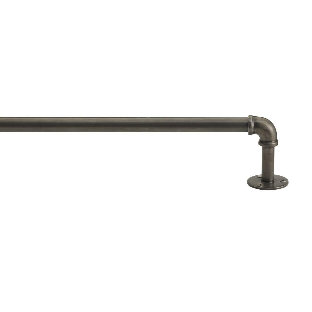 Industrial Pipe Adjustable Rod Rubbed Iron West Elm Uk
