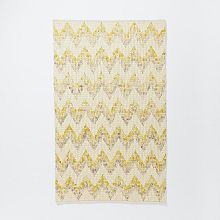 Honeycomb Textured Wool Rug Ivory