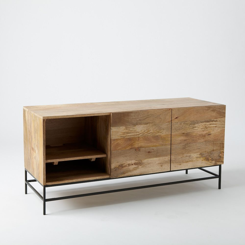 Industrial storage media console 132 cm west elm uk industrial storage media console 132 cm geotapseo Image collections