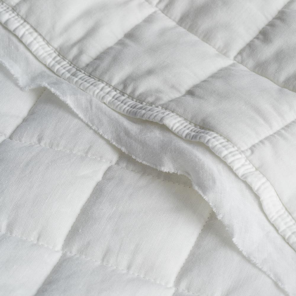 Belgian Flax Linen Bedspread + Pillowcases - White
