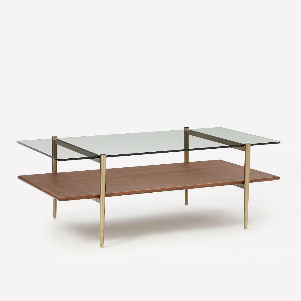 Brass Display Coffee Table: Art Display Coffee Table