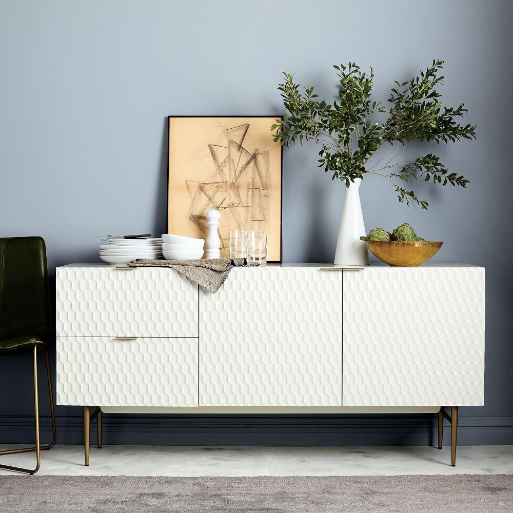 Audrey Dining Sideboard Parchment West Elm Uk