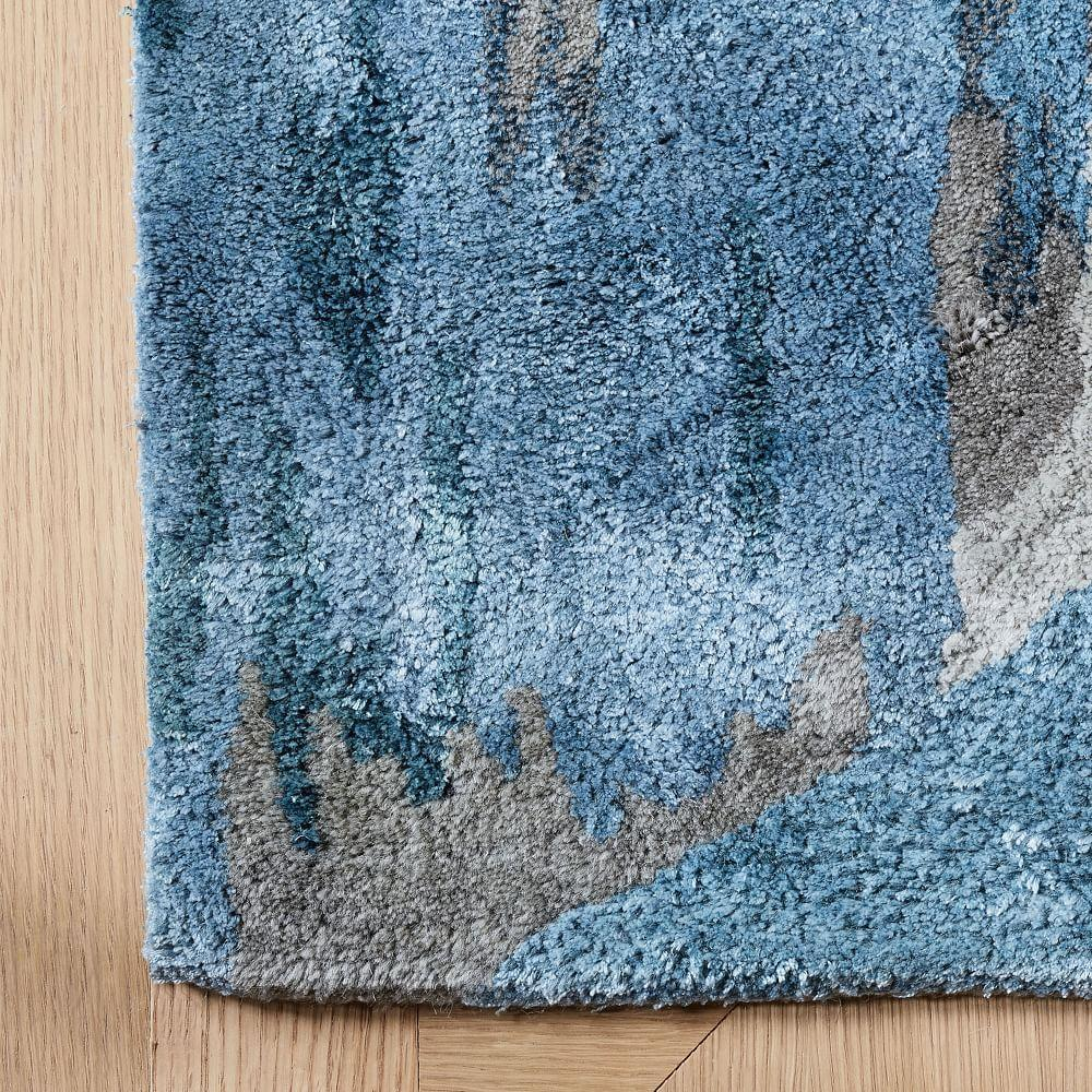 Mural Collection Cliffside Rug - Blue Teal