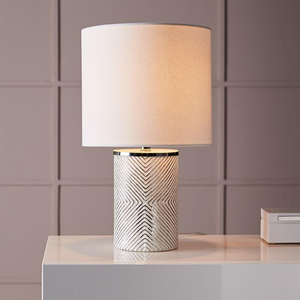 Etched Glass Table Lamp West Elm Uk