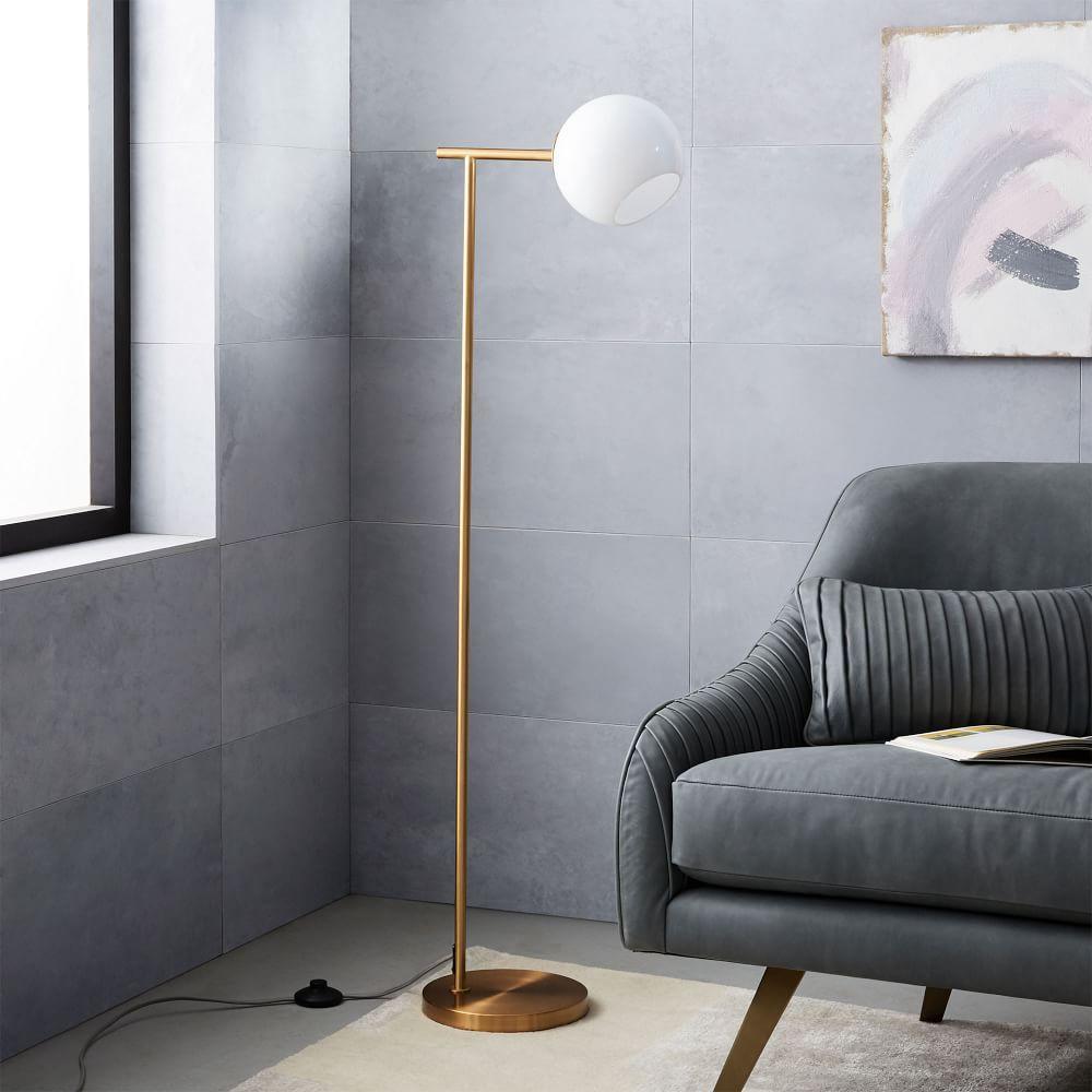 Staggered glass floor lamp west elm uk staggered glass floor lamp aloadofball Gallery