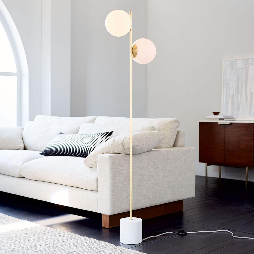 Sphere Stem Floor Lamp West Elm Uk