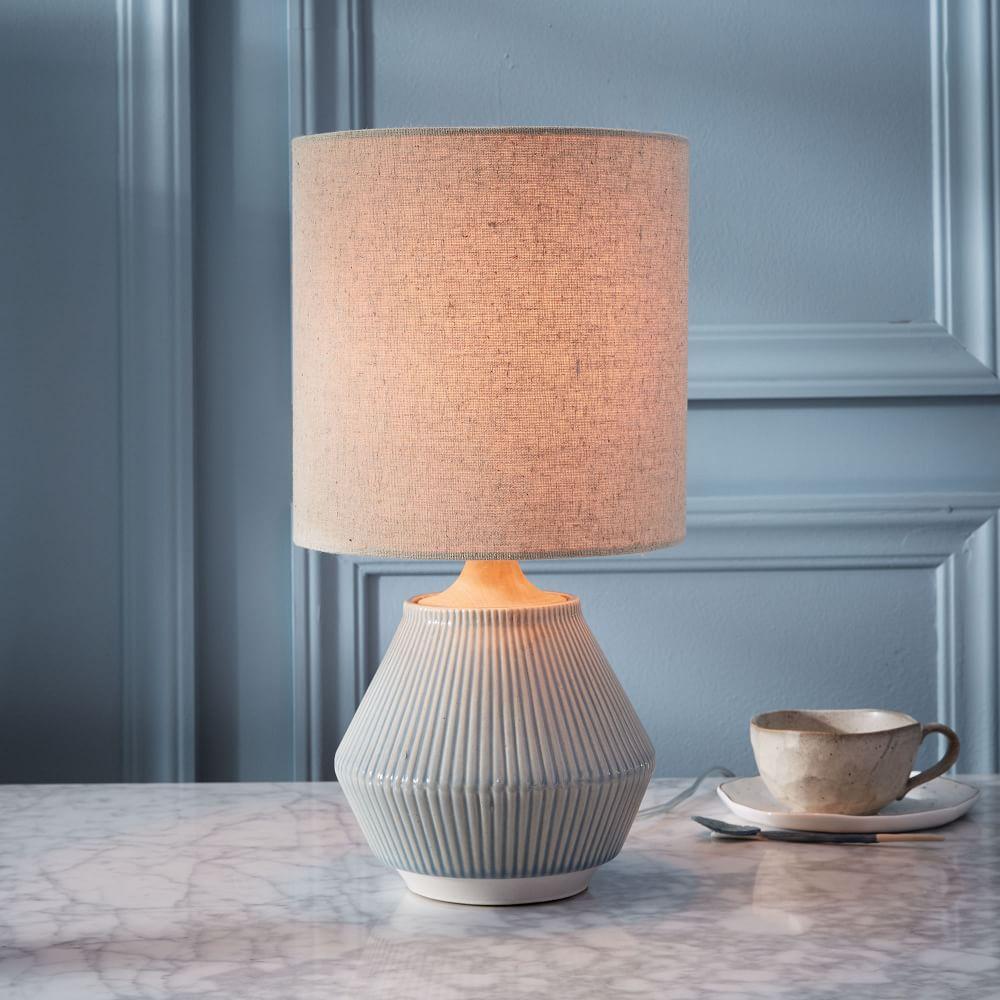 Roar Rabbit Ripple Ceramic Table Lamp Small Narrow