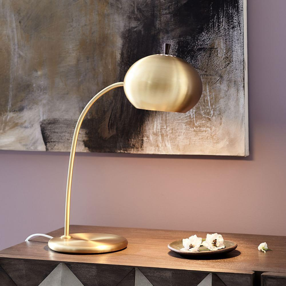 Petite arc metal table lamp west elm uk petite arc metal table lamp mozeypictures Choice Image