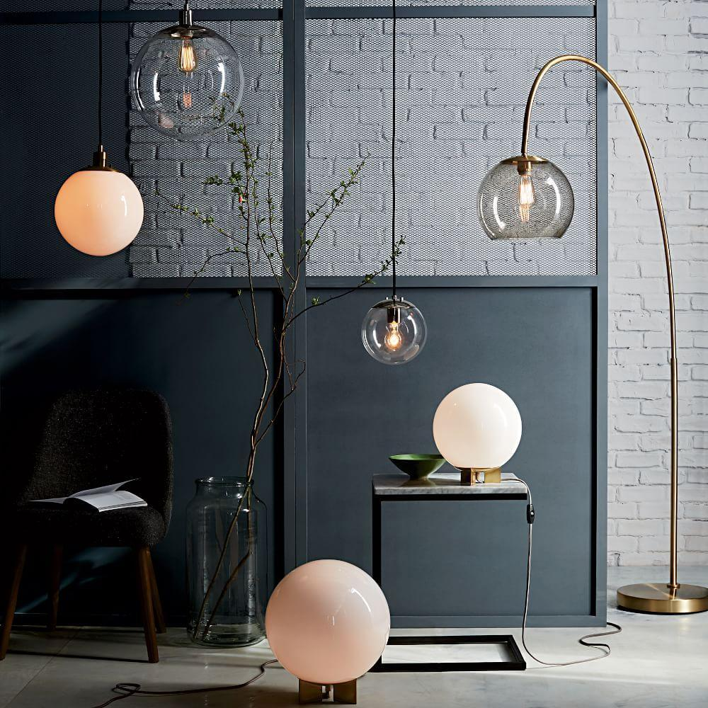 Overarching acrylic shade floor lamp antique brasssmoke west elm uk overarching acrylic shade floor lamp antique brasssmoke aloadofball Gallery