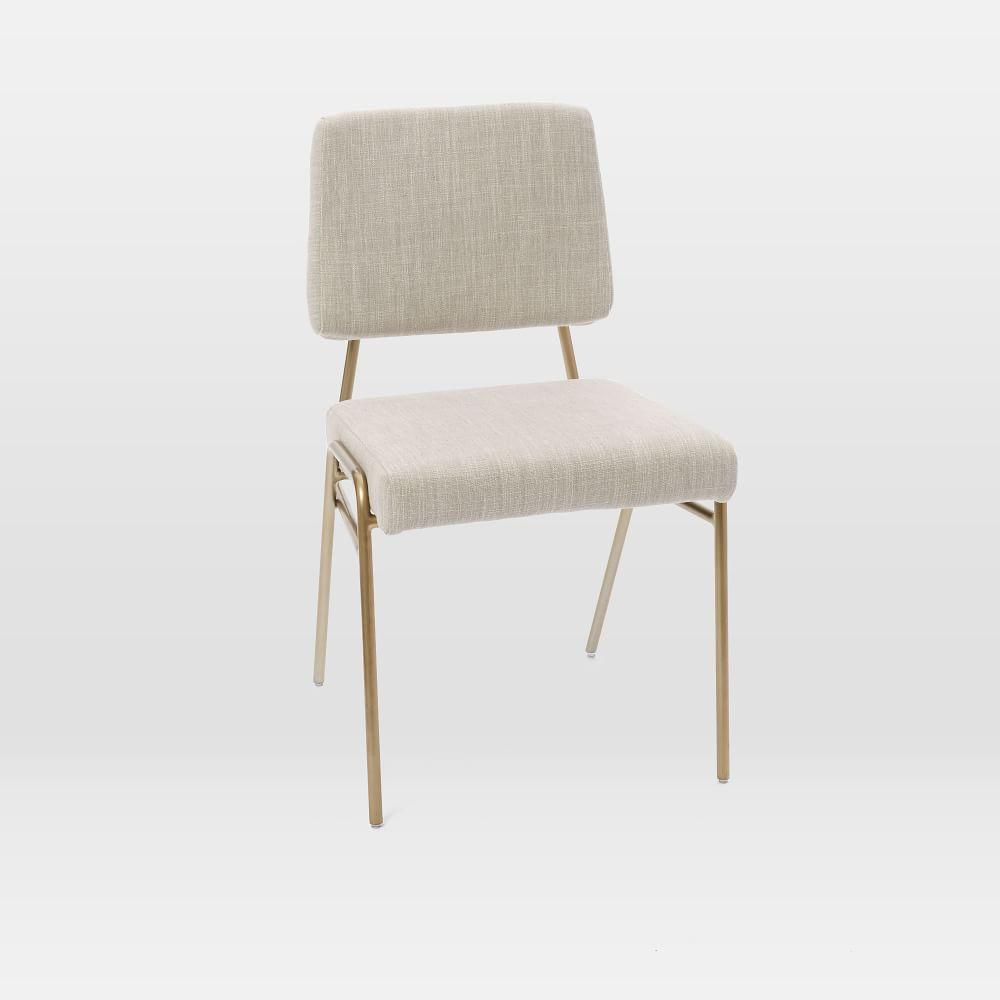 Wire Frame Upholstered Dining Chair - Platinum