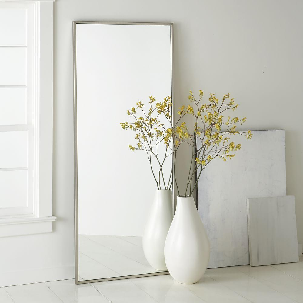 metal floor mirror west elm uk. Black Bedroom Furniture Sets. Home Design Ideas