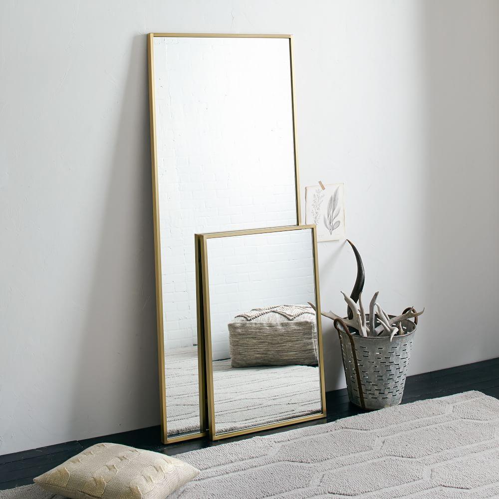 Metal floor mirror west elm uk for Mirror framed floor mirror
