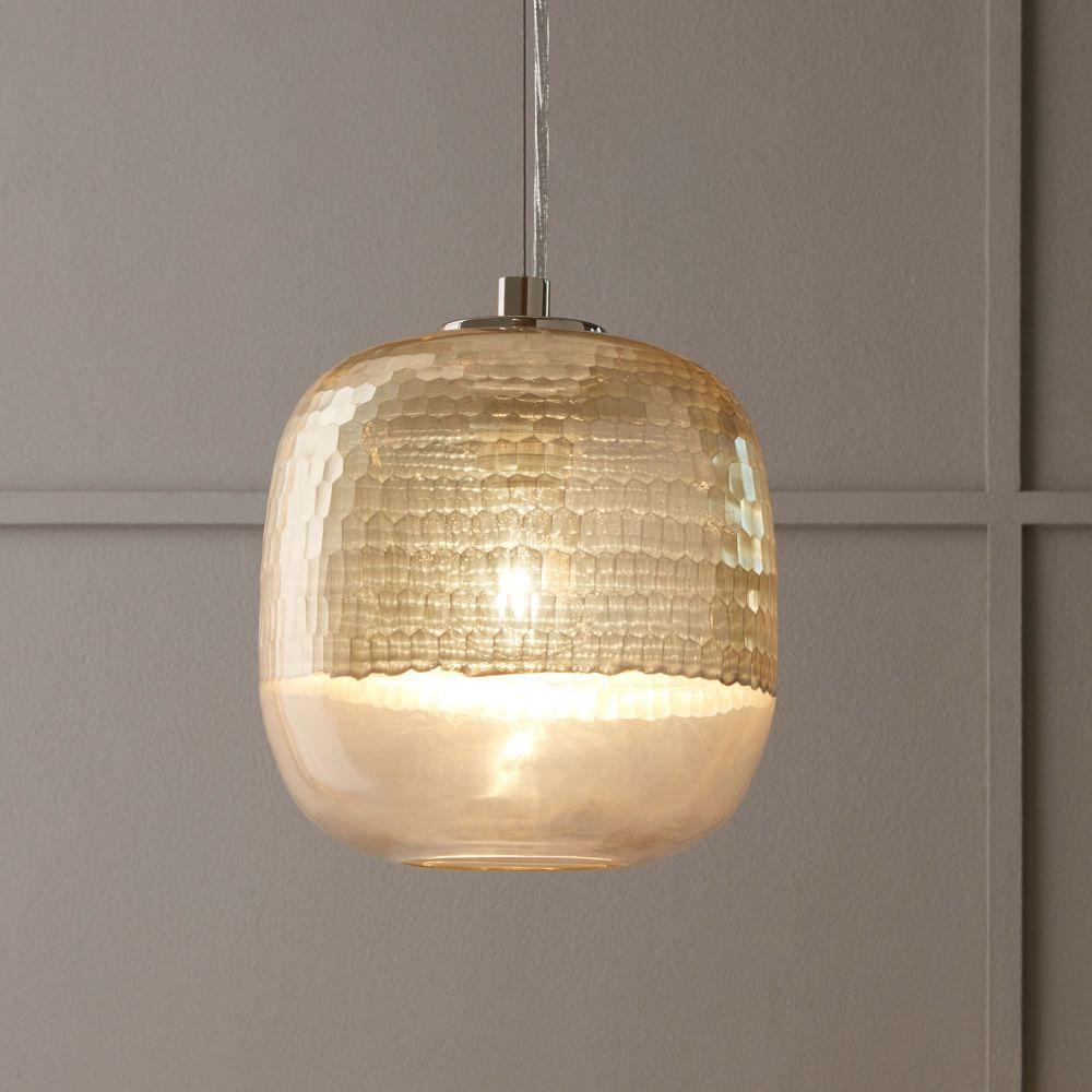 Metallic Honeycomb Glass Ceiling Lamp West Elm Uk