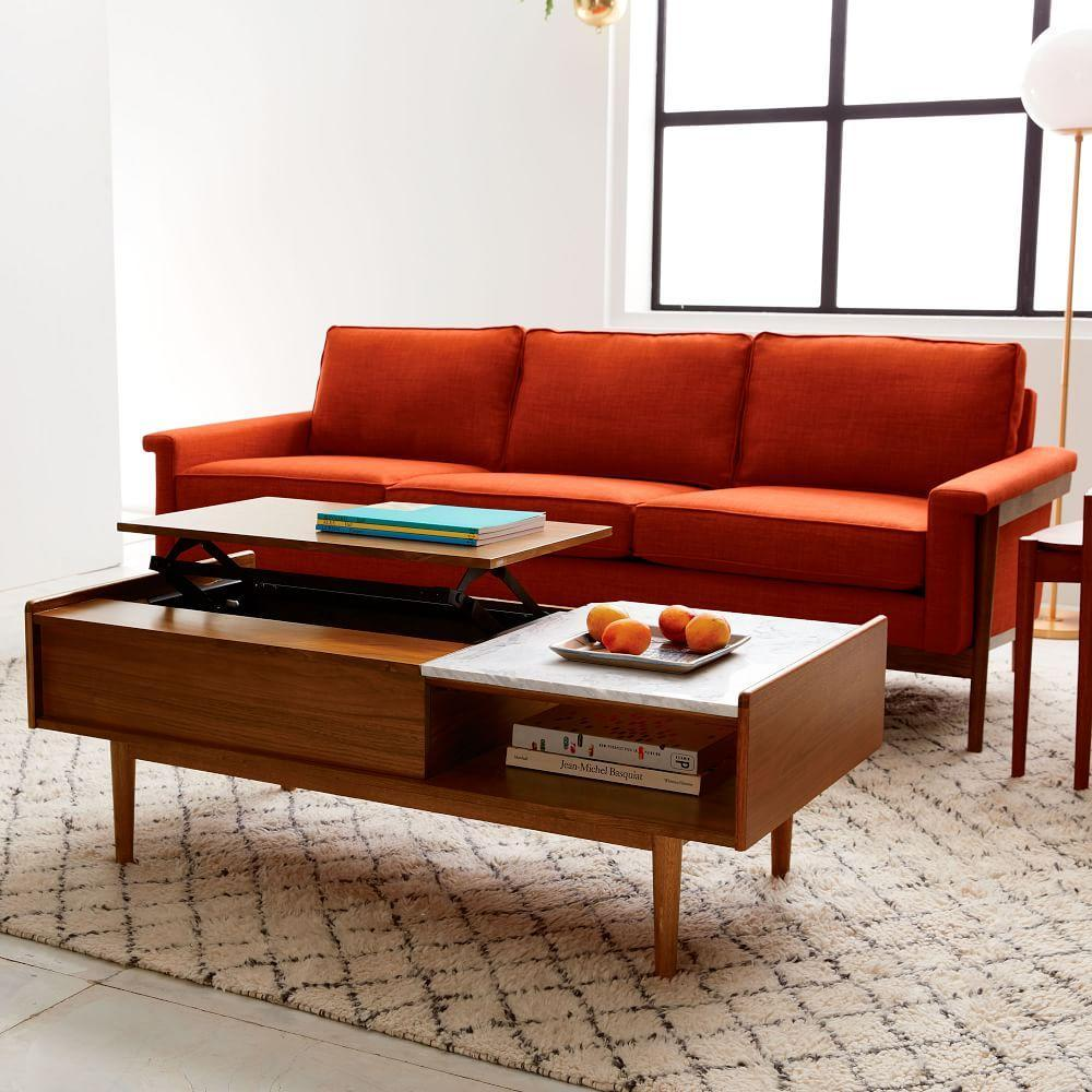 Mid century pop up storage coffee table west elm uk mid century pop up storage coffee table geotapseo Images
