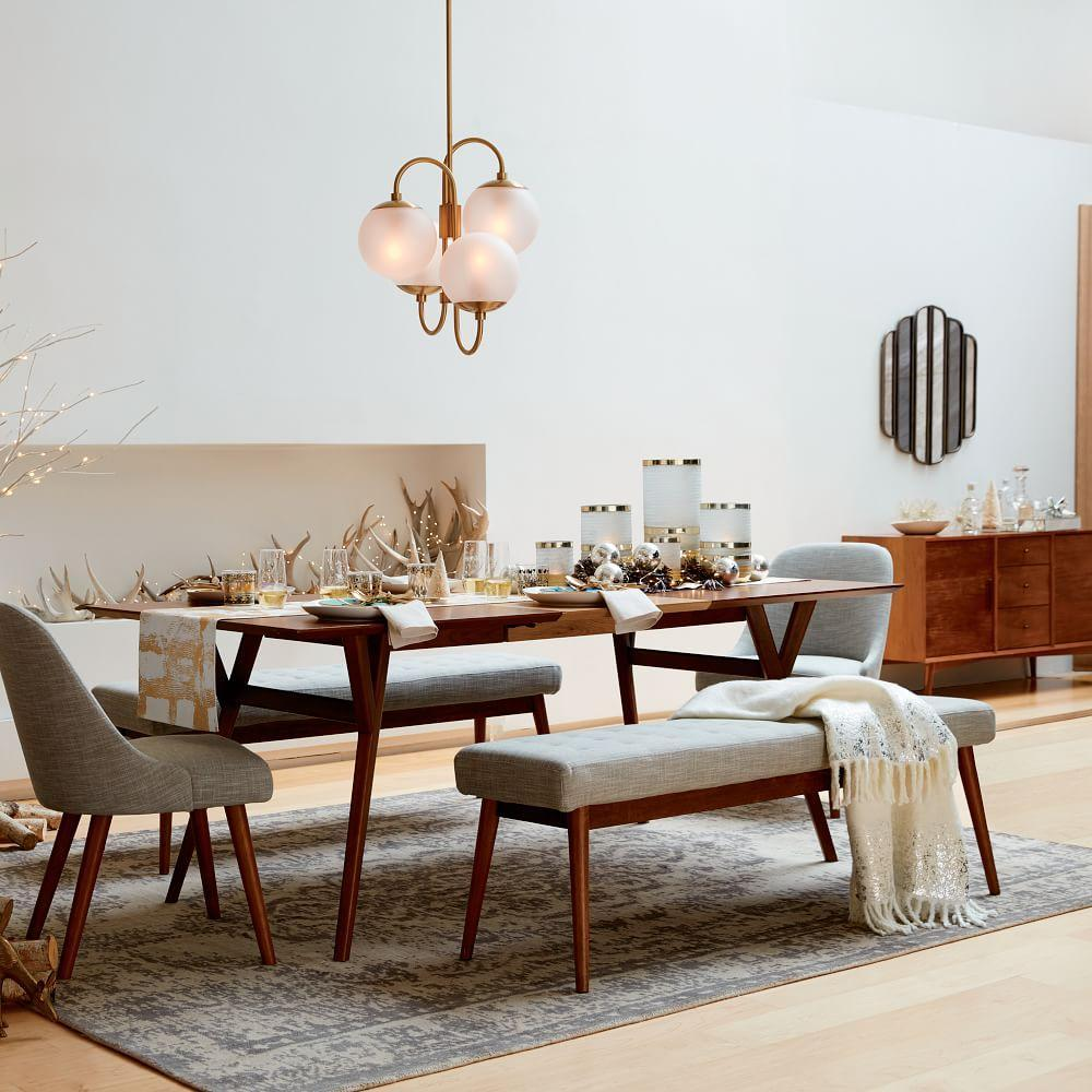 Mid-Century Expandable Dining Table - Walnut | west elm UK