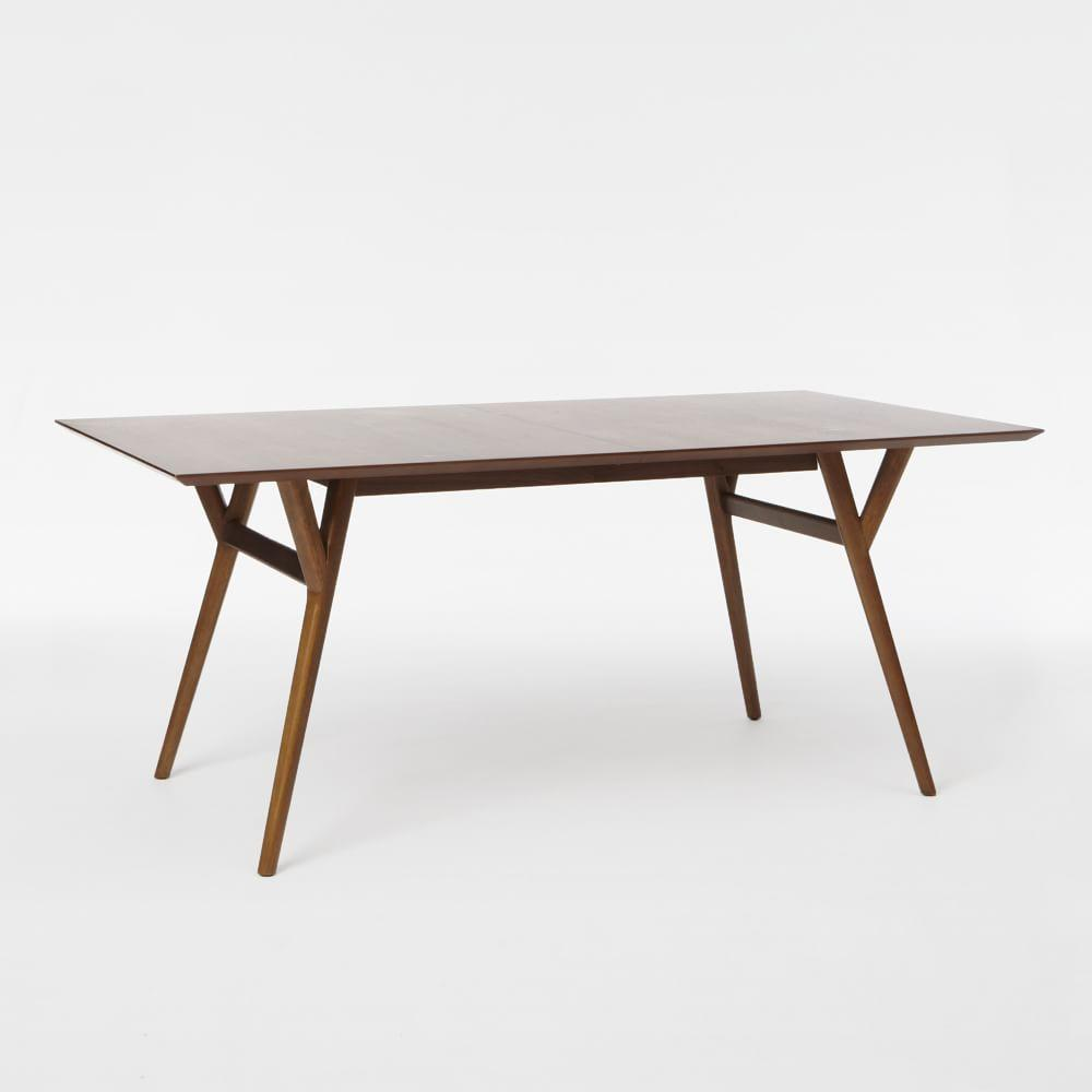 Mid century expandable dining table walnut west elm uk for West elm c table