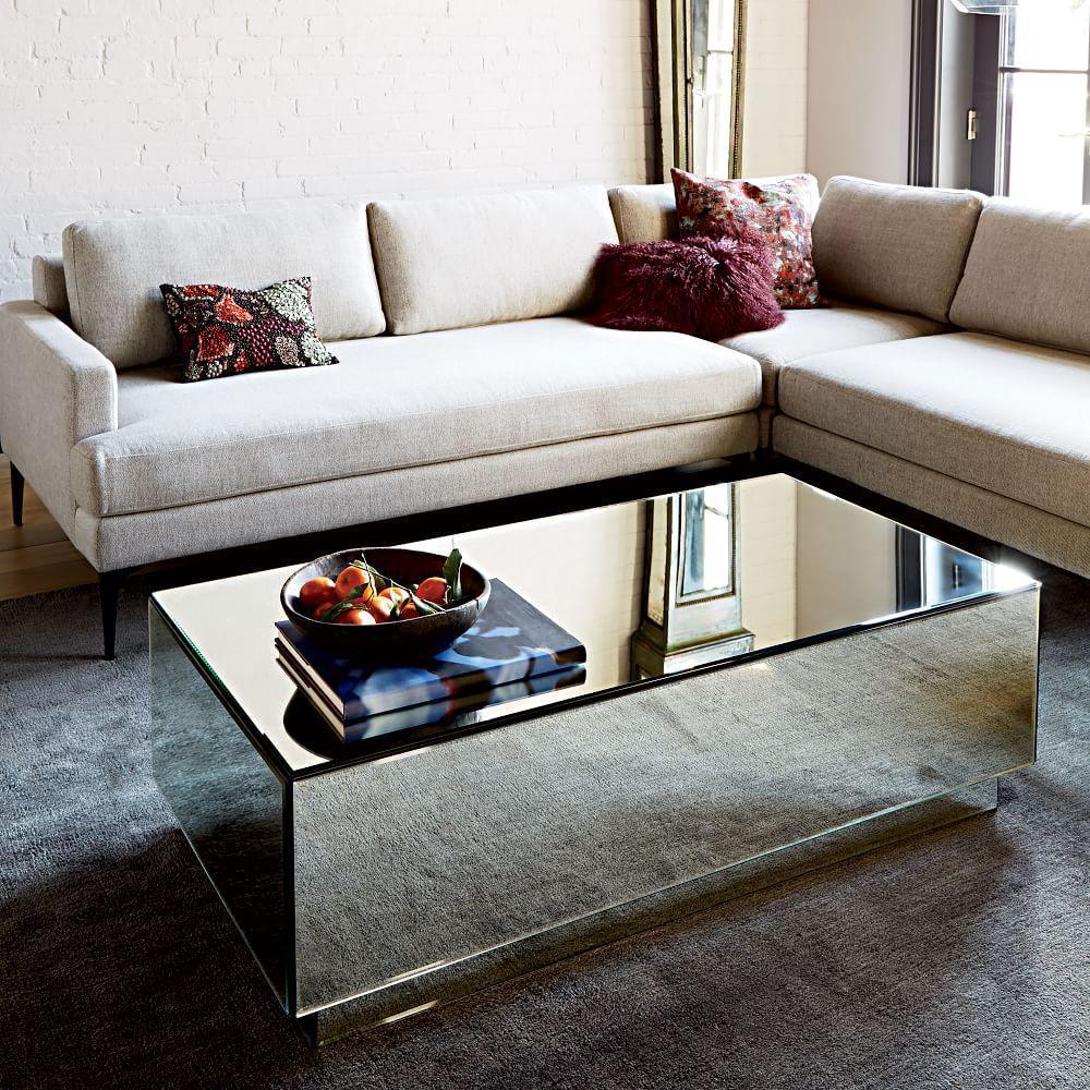 geo mirror coffee table h2257