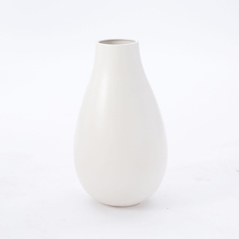 oversized pure white ceramic vases  west elm uk - oversized pure white ceramic vases