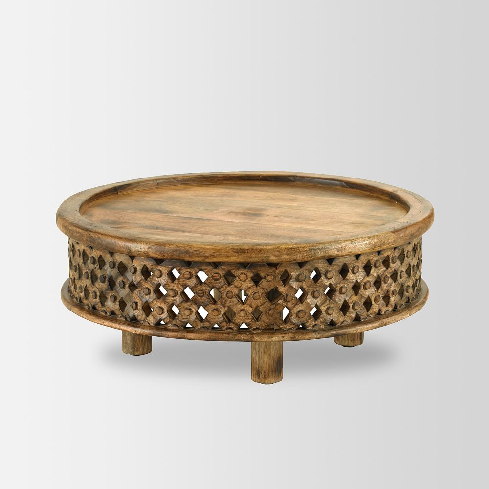 Carved wood coffee table west elm uk carved wood coffee table geotapseo Gallery