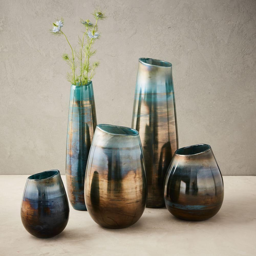 lustre curve vases ink blue west elm uk. Black Bedroom Furniture Sets. Home Design Ideas